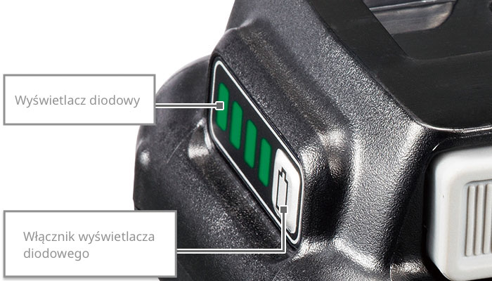 Wyświetlacz diodowy / Włącznik wyświetlacza diodowego