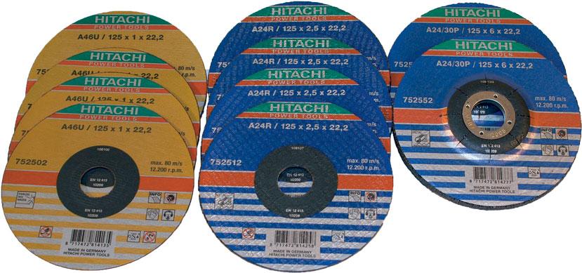 ZESAW TARCZ ŚCIERNYCH I TNĄCYCH DO METALU 125x1,0/2,5/6,0x22,2mm PŁASKICH - PREMIUM