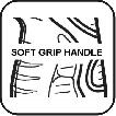 Perfekcyjnie wyprofilowana rękojeść wykonana w technice soft touch.