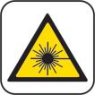 Nie wolno wpatrywać się w promień lasera.